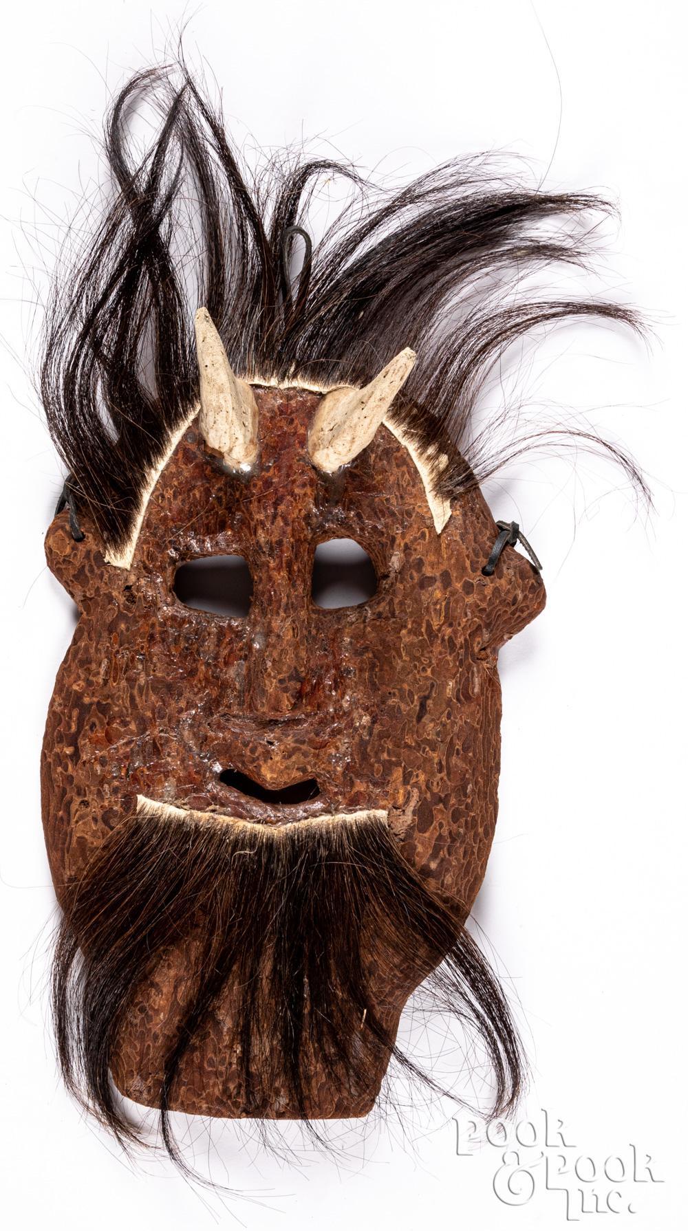 Tarahumara Indian devil mask, 20th c.