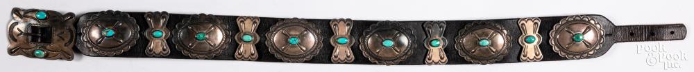 Navajo Dine Indian concha belt