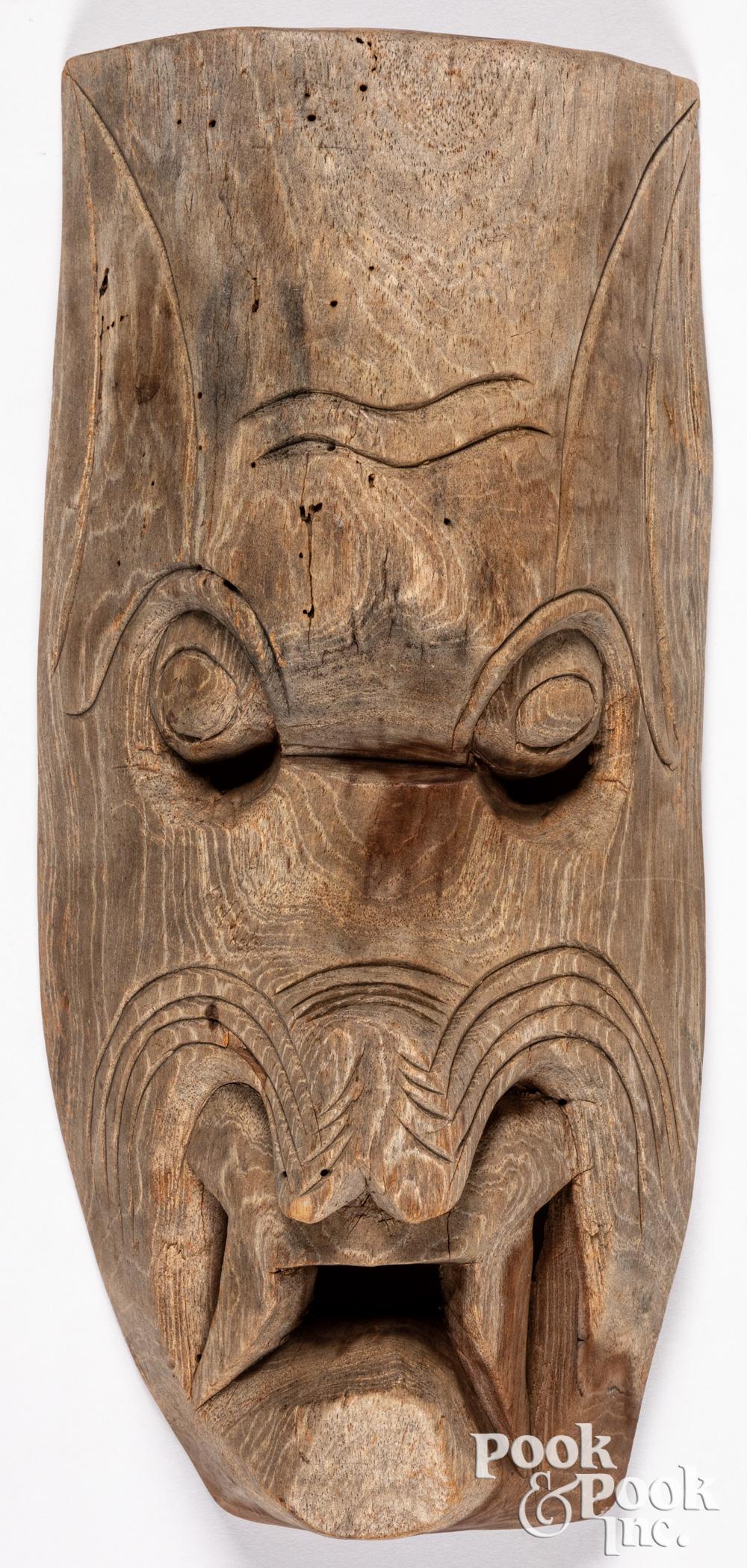 Northwest Coast Indian carved cedar mask