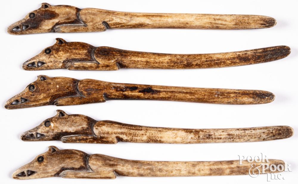 Native American Indian bone trap springs