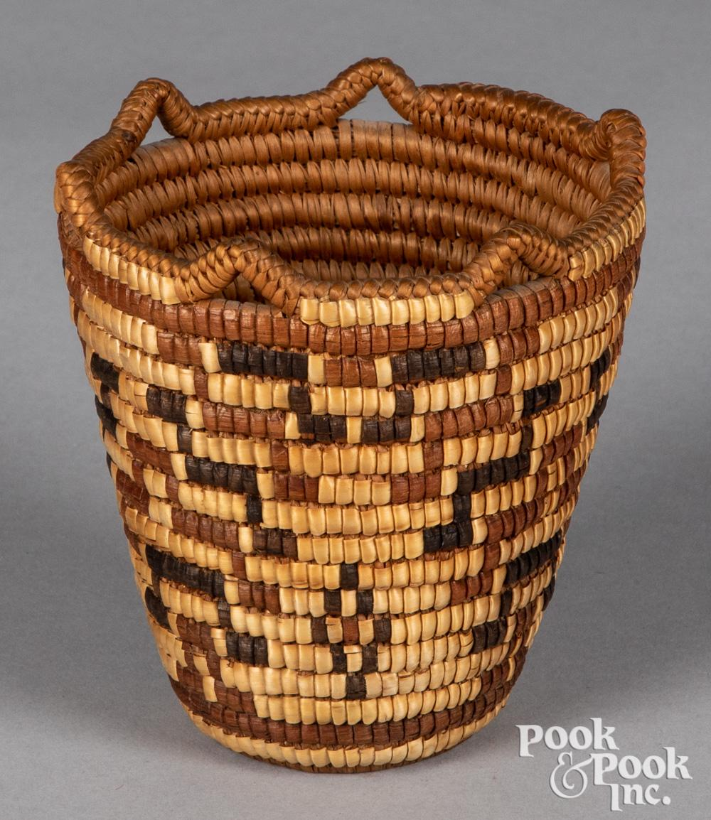 Columbian River Basin Indian sweetgrass basket