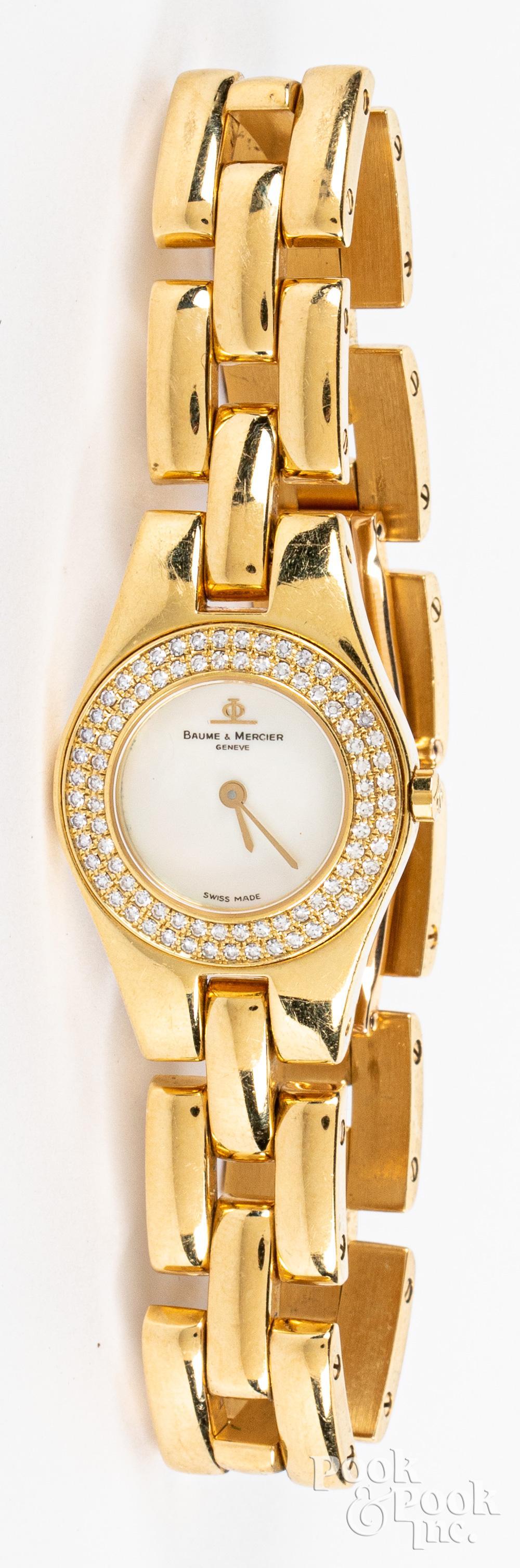 Baume & Mercier 18K gold ladies wristwatch