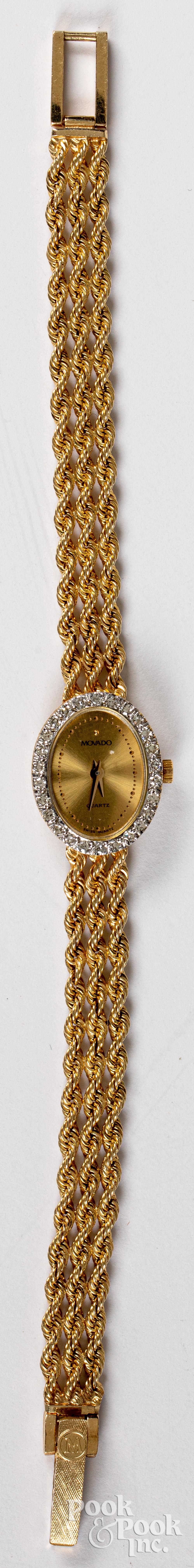 Movado 14K gold ladies wristwatch