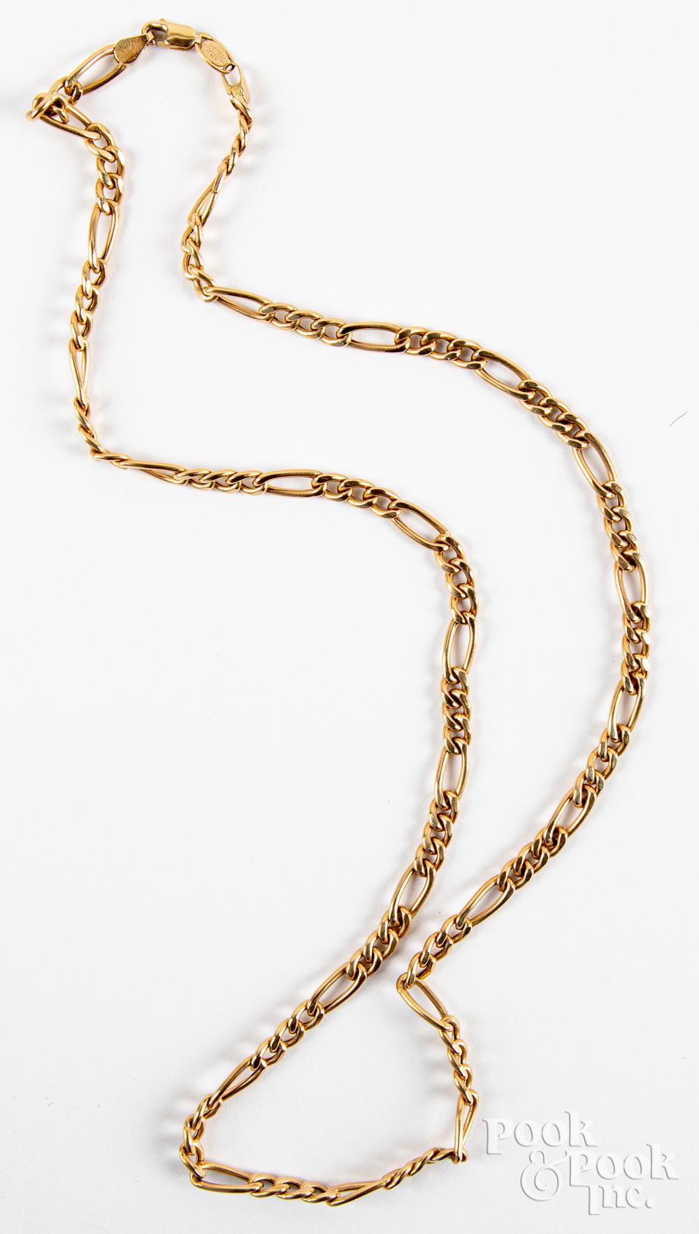 14K gold necklace, 5.9dwt.