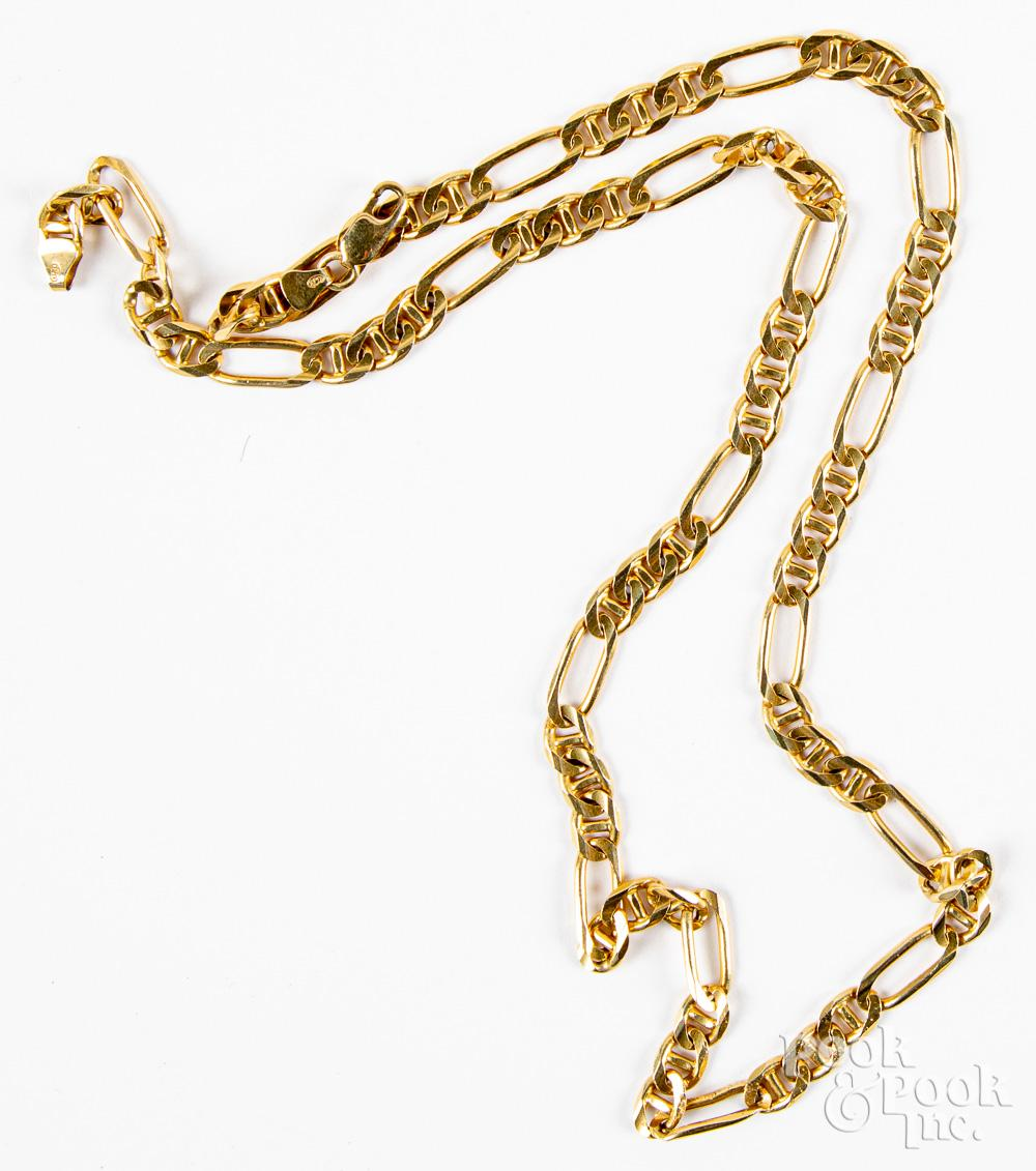 14K gold necklace, 19.7dwt.