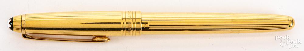 Mont Blanc 18K gold pen.