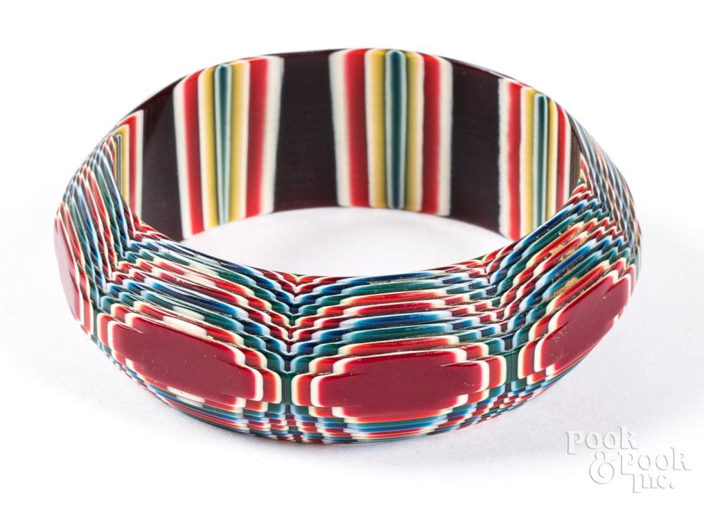 Lea Stein celluloid bracelet.