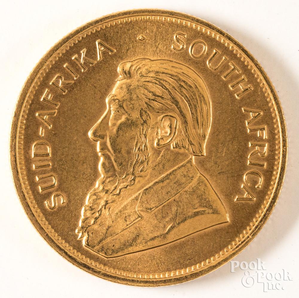 1ozt fine gold Krugerrand.