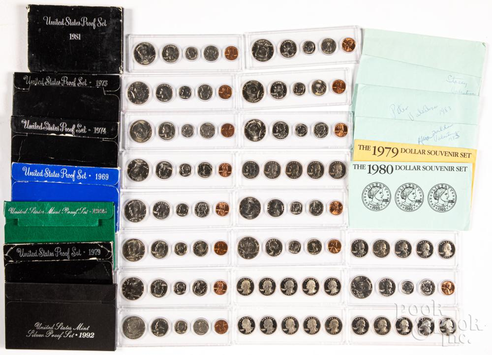 US coin sets, to include 1992 silver proof, etc.
