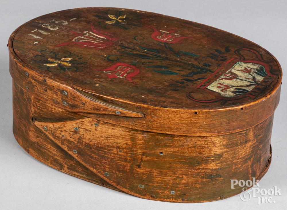 Bentwood box, 19th c.