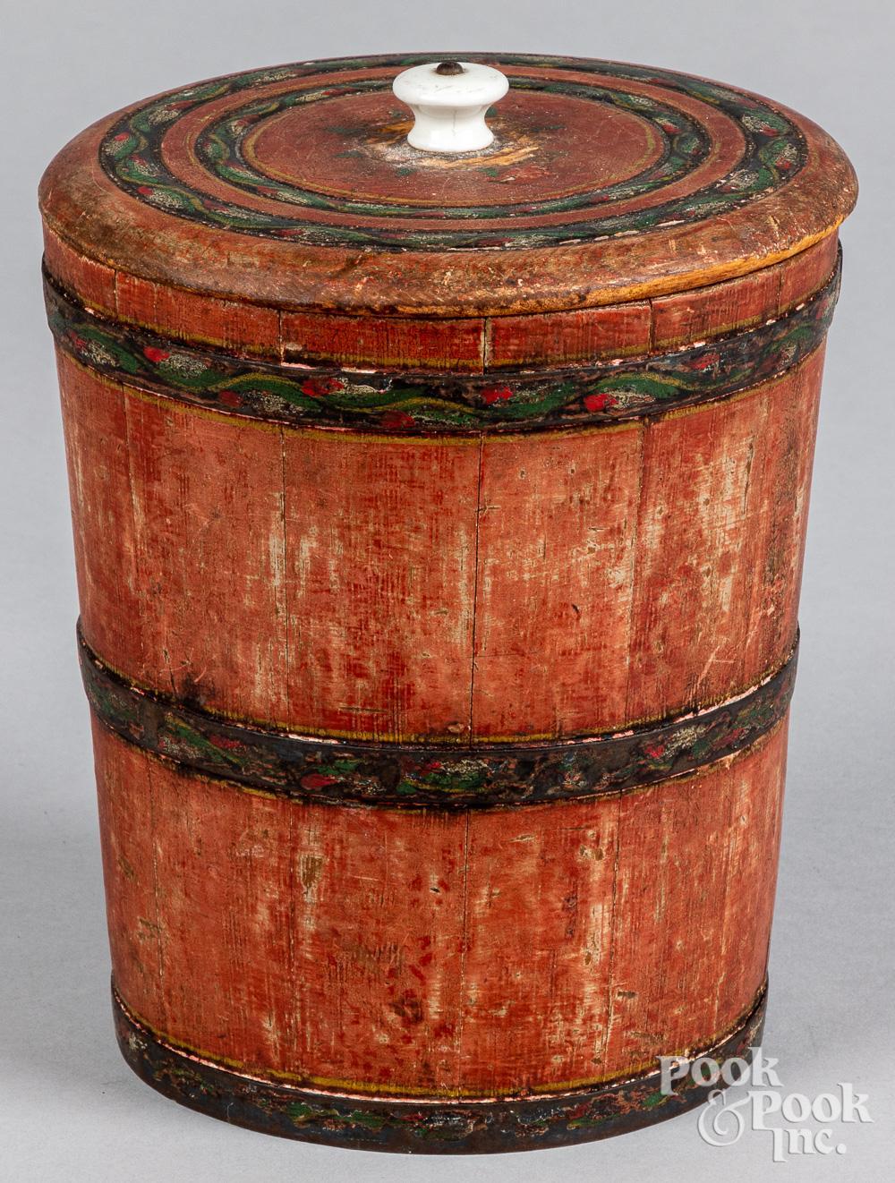 Joseph Lehn painted sugar bucket