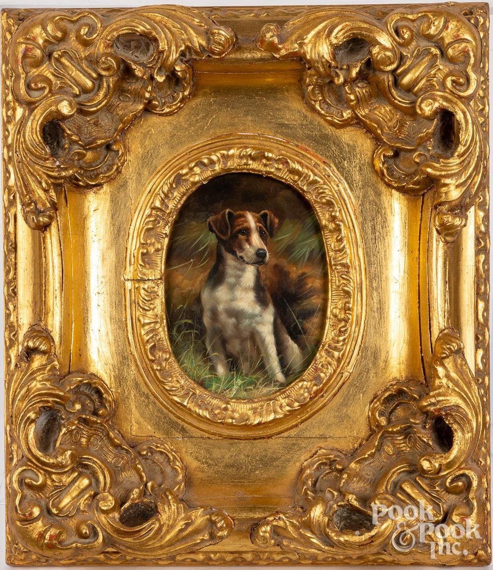 Contemporary oil on panel dog portrait
