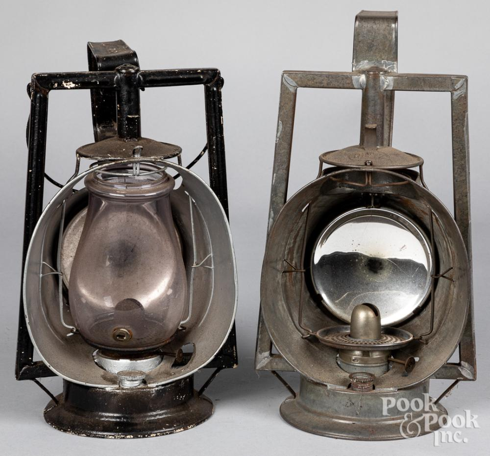Two Dietz Acme Inspector Lamps, 19th c.