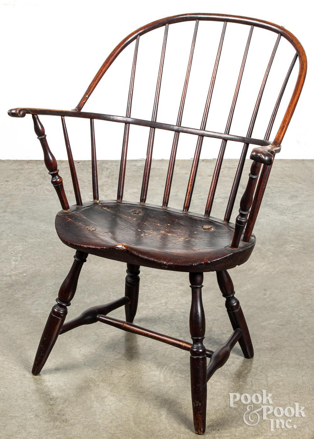Pennsylvania sackback knuckle arm Windsor chair