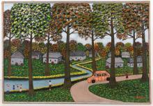 Maria Korsak oil on canvas landscape