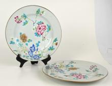 Two Chinese Famille Rose Plates Floral