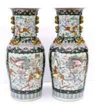 Large Pr Chinese Famille Rose Vases