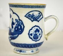 Chinese Blue & White Mug
