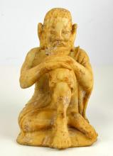 Chinese Carved Jade/Stone Luohan Figure