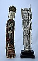 18/19th C Set of Two finely carved Ivory Figures