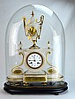FRENCH Mantel clock topped with an urn