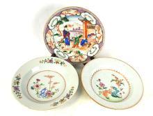 Three Chinese Export Plates
