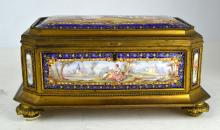 Sevres Enamel Jewelry Box