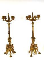 Pr Bronze French F. Barbedienne Candelabras
