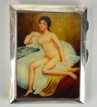 English Silver Enamel Box