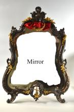 Antique Silver Plated and Bronzed Mirror