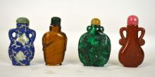 Four Snuff Bottles in Fitted Box