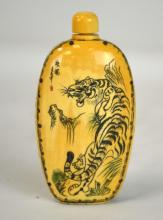 Chinese Carved Bone Snuff Bottle