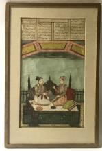 Framed Indian Double Sided Miniature