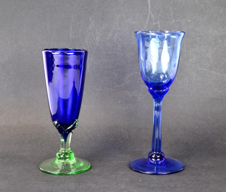 John Barber Hand Blown Art Wine Glasses