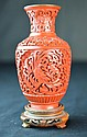 A Chinese Carved Cinnabar Vase