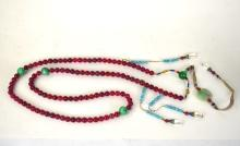 Chinese Pink Tourmaline Beads Court Necklace