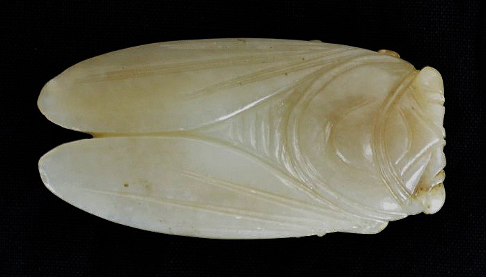 Chinese Carved Jade Cicada