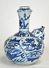 Chinese Blue & White Bottle-Shaped Urn, Ming