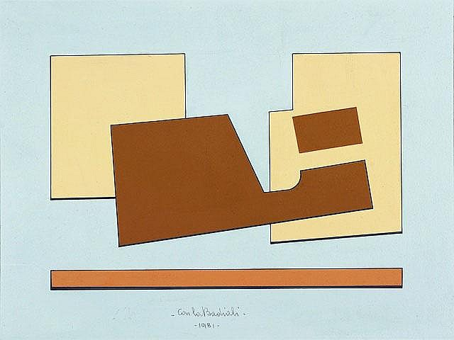 Untitled, 1981. acrylic on cardboard, cm