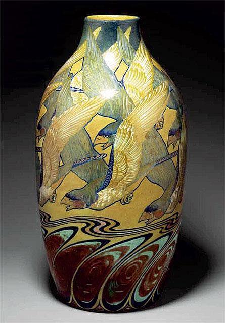 Galileo Chini, Arte della Ceramica, pottery vase