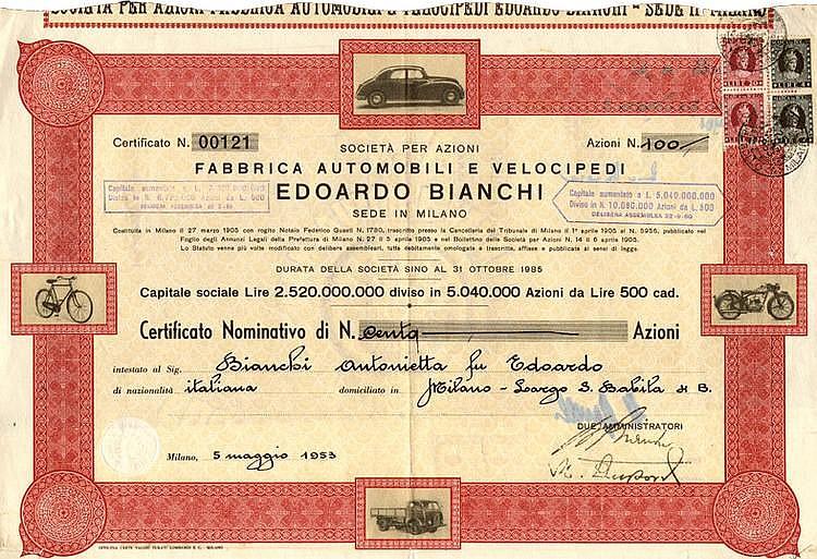 Fabbrica Automobili e Velocipedi Edoardo Bianchi