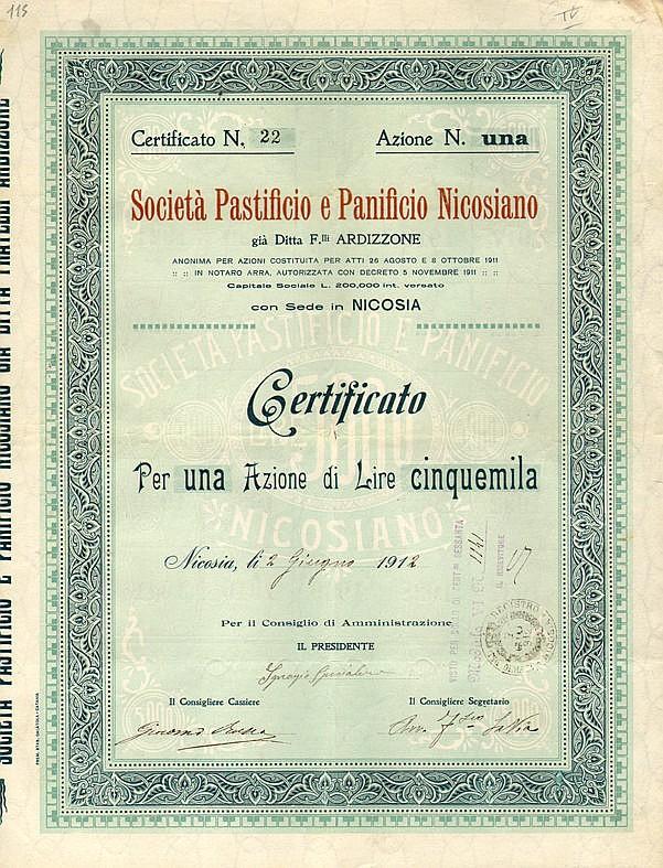 Società Pastificio e Panificio Nicosiano - già Ditta F.lli Ardizzone