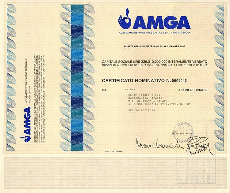AMGA - Azienda Mediterranea Gas e Acqua S.p.A.