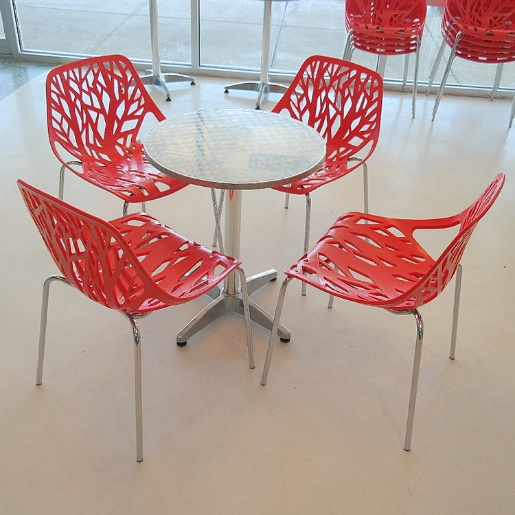 Round Restaurant Table with 4 Chairs