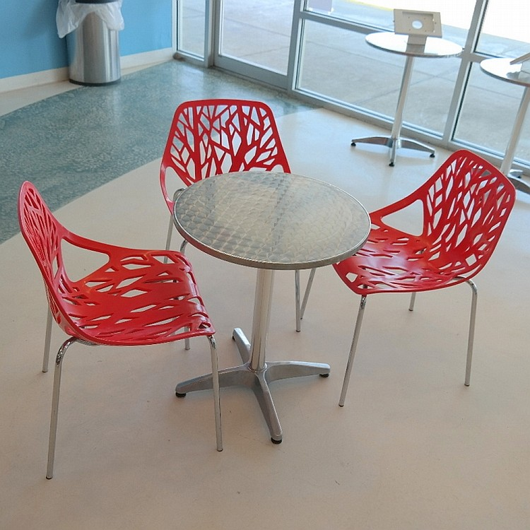 Round Restaurant Table with 3 Chairs