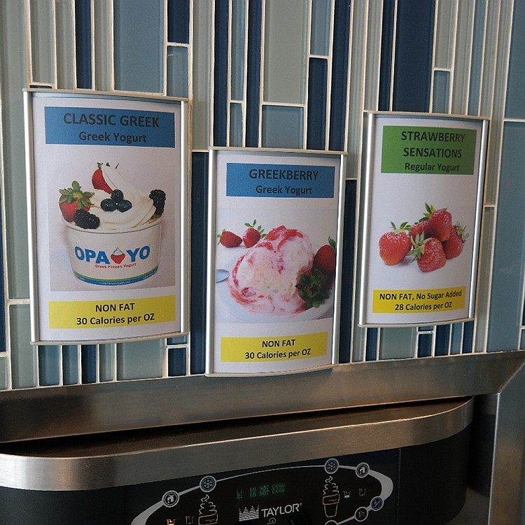 (3) Ice Cream Flavor Display Wall Holders  #6