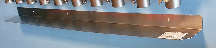Stainless Steel Shelf for Wall Mount Ice Cream Condiment Servers