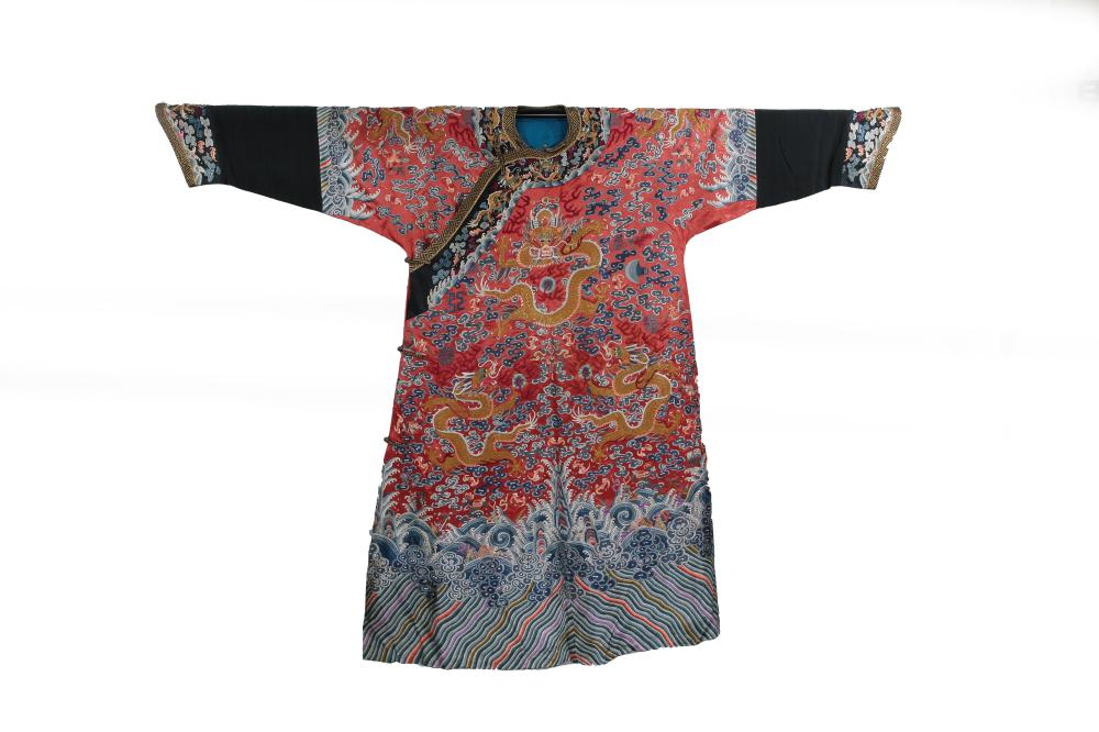 de6c0825a5a58 CHINESE EMBROIDERY IMPERIAL DRAGON ROBE QING DYNASTY