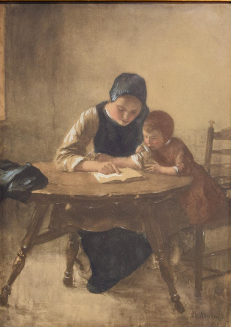 Albert Neuhuys, Mother and Child Reading