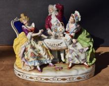 Capodimonte three figure group